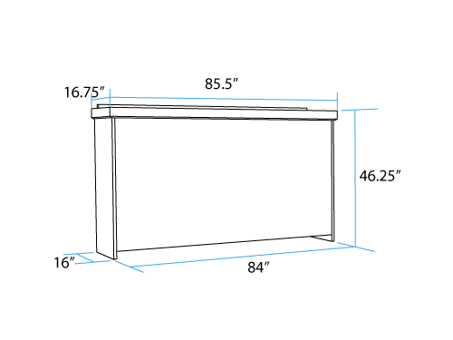 Horizontal Twin-Long Murphy Bed (closed)