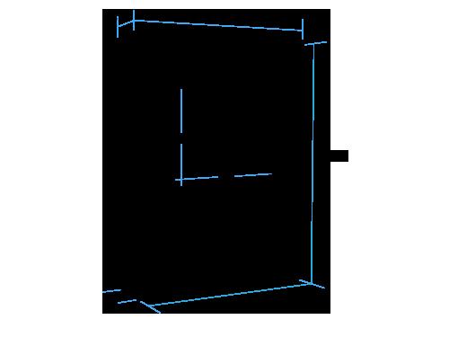 Vertical Queen Murphy Bed (closed)